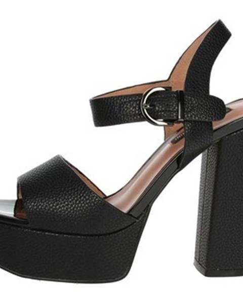 Čierne sandále Luciano Barachini