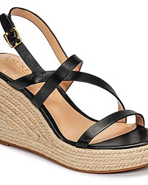 Čierne sandále Lauren Ralph Lauren