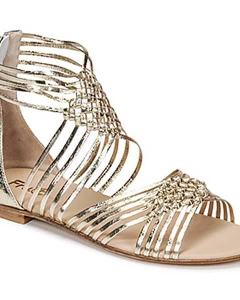 Zlaté sandále Fru.it