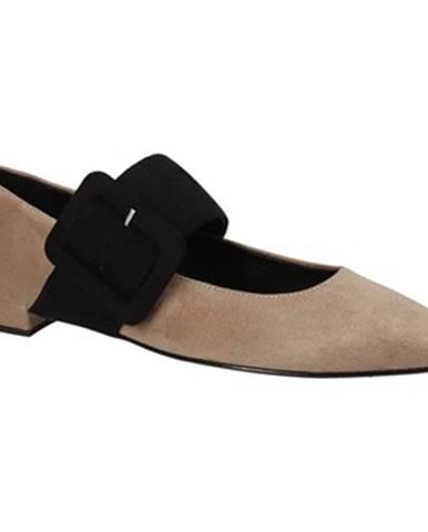 Hnedé balerínky Grace Shoes