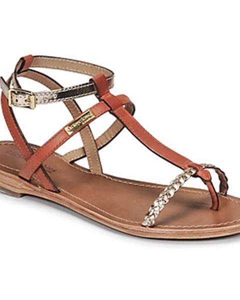 Oranžové sandále Les Tropéziennes par M Belarbi