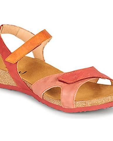 Červené sandále Think