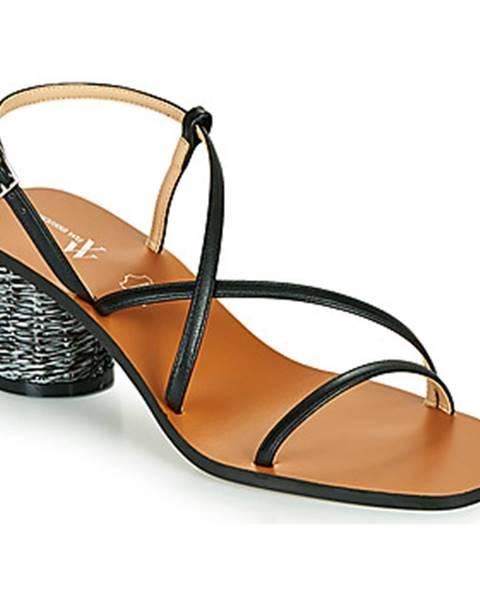 Čierne sandále Vanessa Wu
