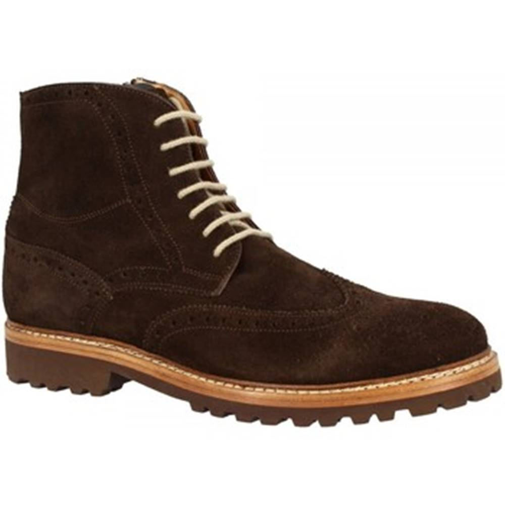 Leonardo Shoes Polokozačky Leonardo Shoes  07252 CAMOSCIO T MORO