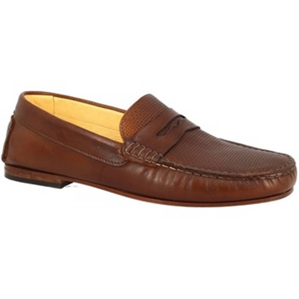 Leonardo Shoes Mokasíny Leonardo Shoes  503 VITELLO SUDAN F. DO CUOIO