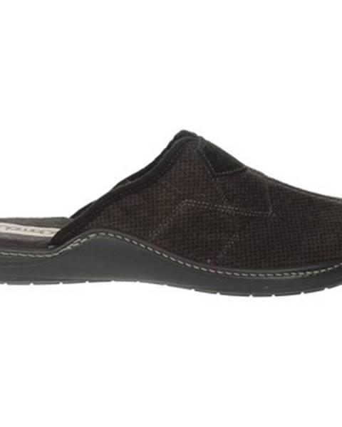 Hnedé papuče Uomodue