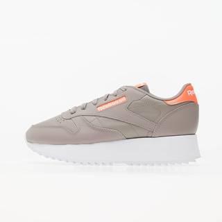 Reebok Classic Leather Double Boulder Grey/ Orange Flare / White
