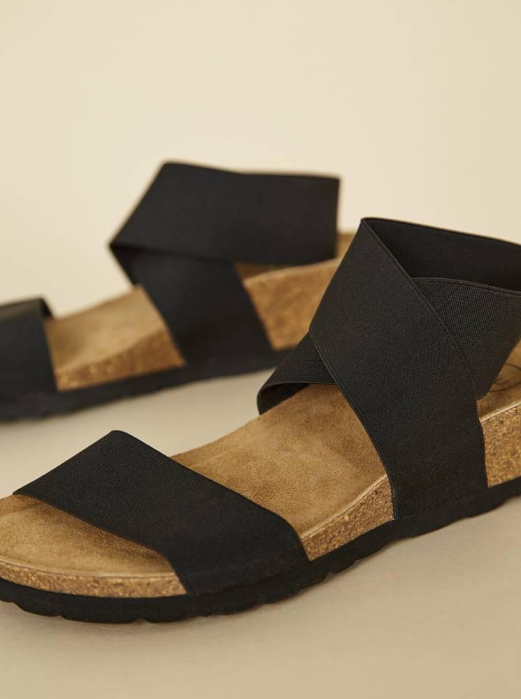 OJJU Čierne dámske sandálky OJJU
