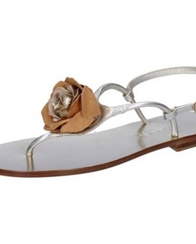 Strieborné sandále Eddy Daniele