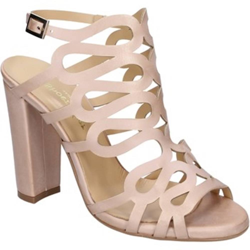 Shoemaker Lodičky Shoemaker  sandali rosa pelle BS66