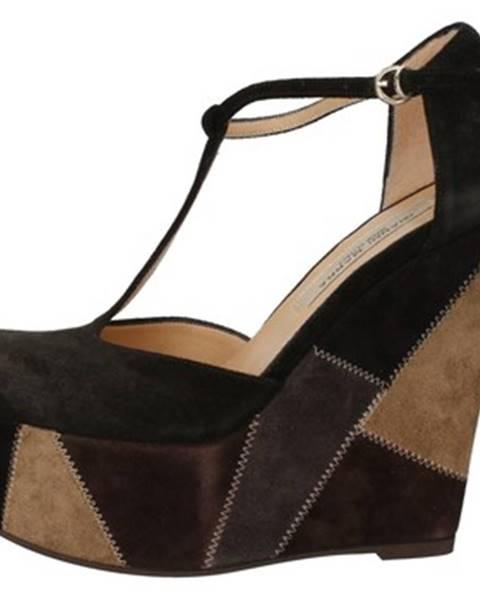 Čierne sandále Gianni Marra