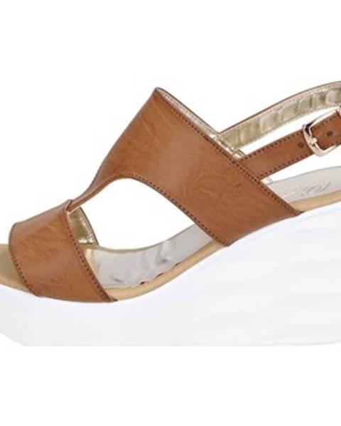 Hnedé sandále Querida