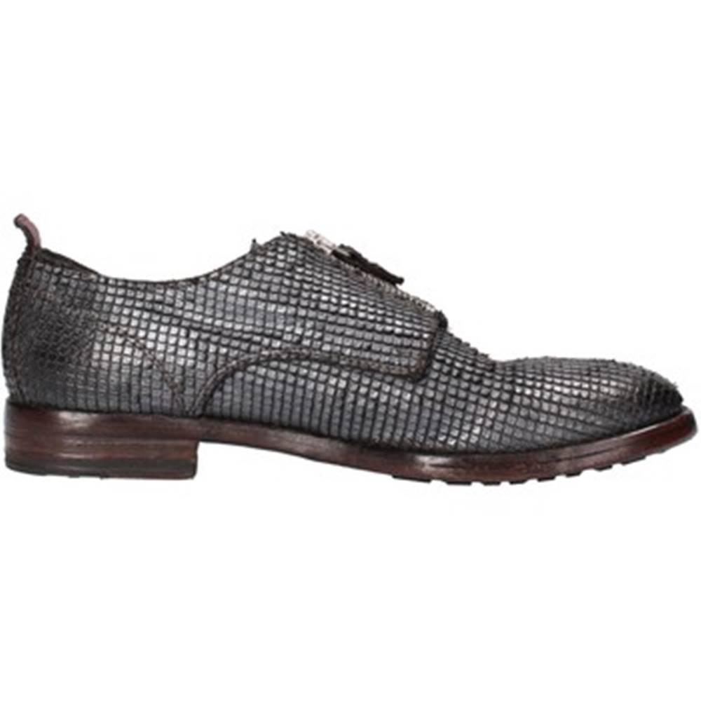 Moma Nízka obuv do mesta Moma  classiche grigio pelle pitonata argento AF248