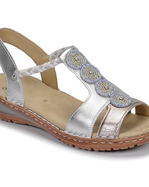 Strieborné sandále Ara