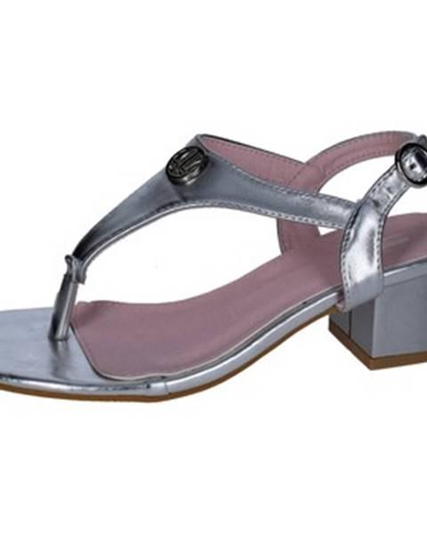 Strieborné sandále Lancetti