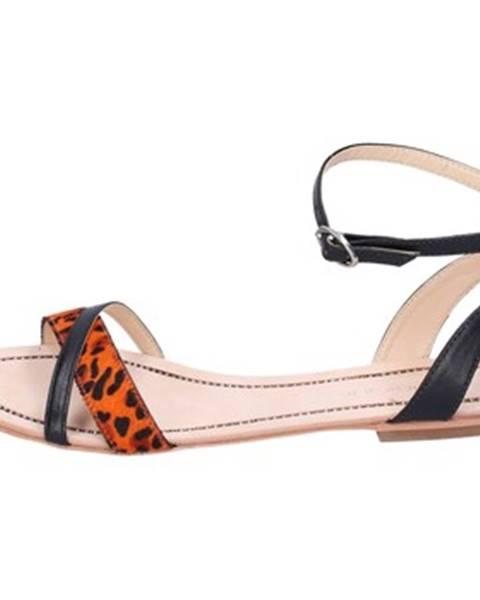 Čierne sandále Miss Unique