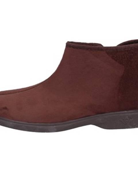 Hnedé papuče Mauri Moda