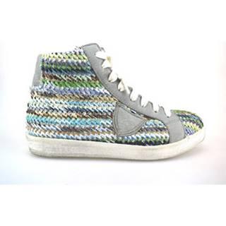 Členkové tenisky Crown  sneakers multicolor tessuto pelle AG227