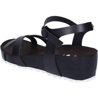 Sandále 5 Pro Ject  sandali nero pelle bianco AC700