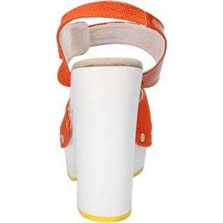 Sandále Suky Brand  sandali arancione tessuto vernice AC802