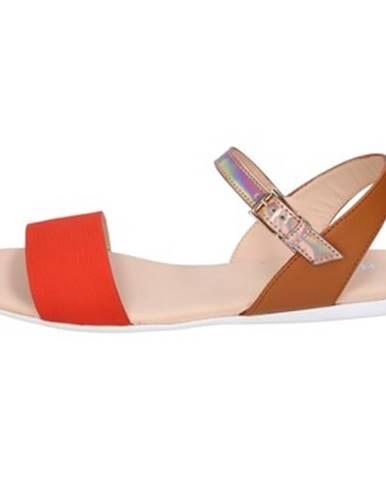 Oranžové sandále Hogan