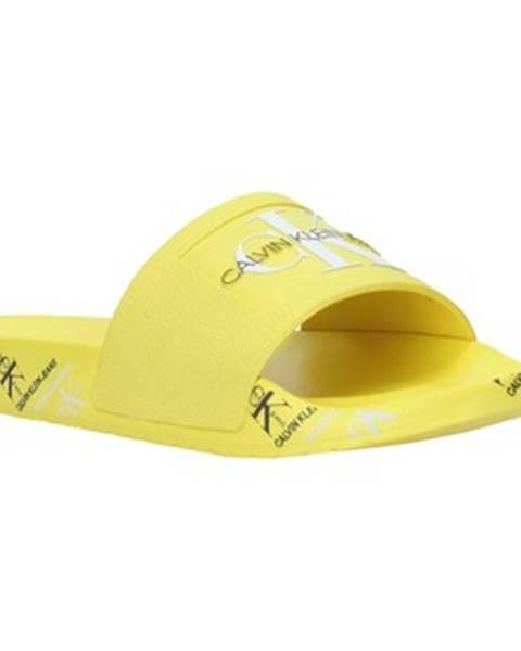 Žlté topánky Calvin Klein Jeans
