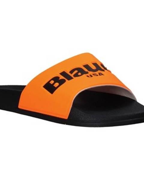 Oranžové topánky Blauer