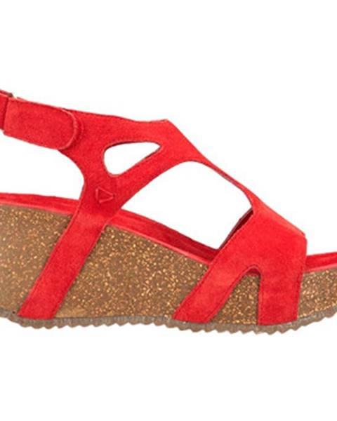 Červené sandále Docksteps