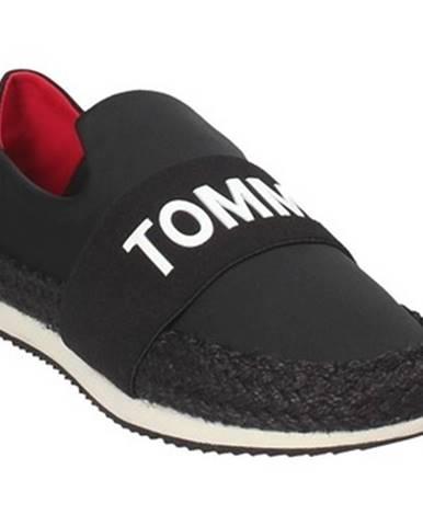 Čierne espadrilky Tommy Hilfiger