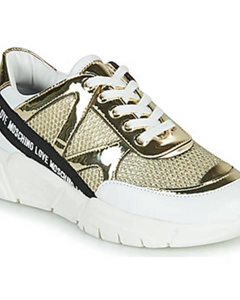 Zlaté tenisky Love Moschino