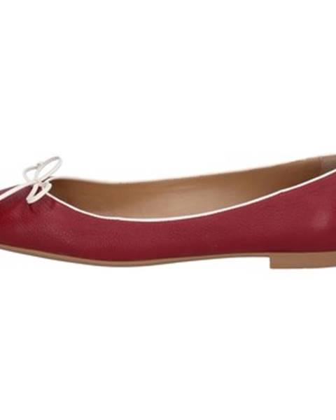 Červené balerínky Bally Shoes