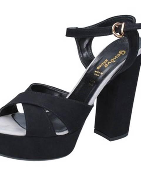 Čierne sandále Geneve Shoes