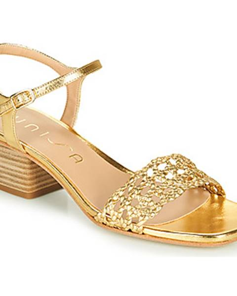 Zlaté sandále Unisa