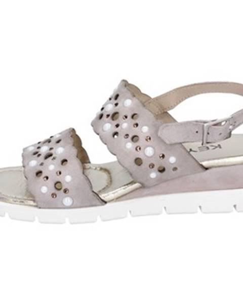 Béžové sandále Keys