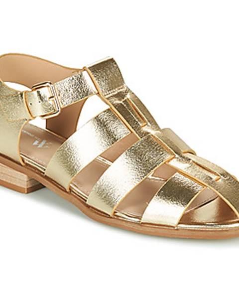 Zlaté sandále Vanessa Wu