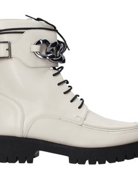 Biele polokozačky Grace Shoes