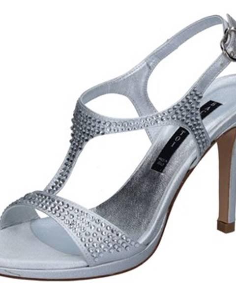 Strieborné sandále Bacta De Toi