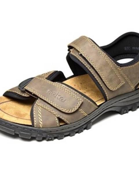 Hnedé športové sandále Rieker