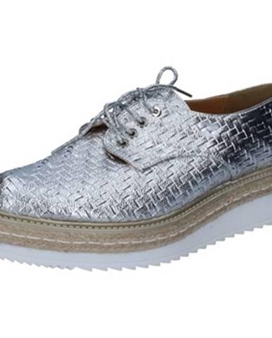 Strieborné topánky Olga Rubini