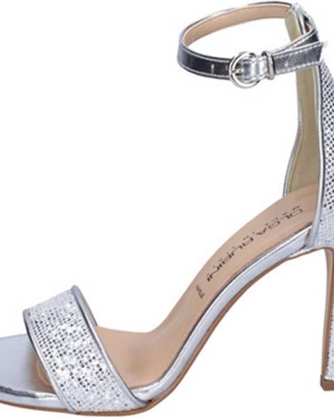 Strieborné sandále Olga Rubini