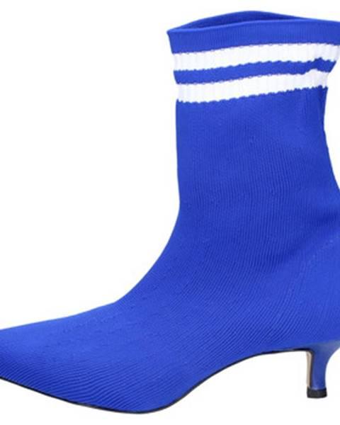 Modré topánky Olga Rubini