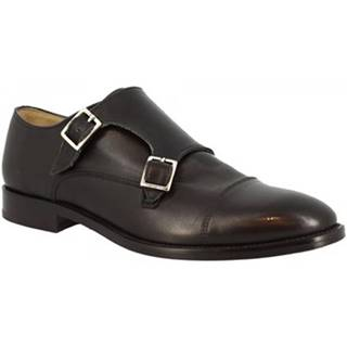 Mokasíny Leonardo Shoes  7175 VITELLO NERO
