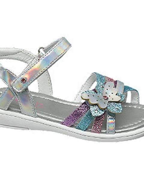 Strieborné sandále Cupcake Couture