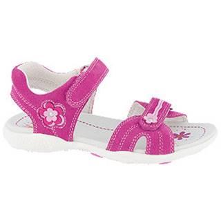 Ružové kožené sandále na suchý zips Graceland