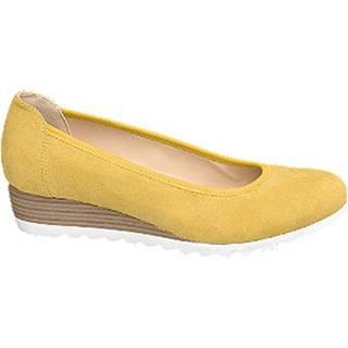 Žlté lodičky na klinovom podpätku Graceland