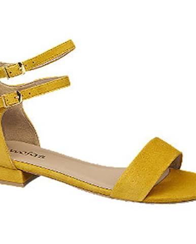 Žlté sandále Wojas