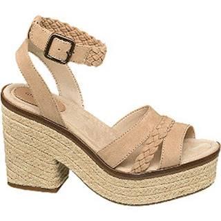 Béžové sandále na podpätku Graceland