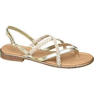 Metalické zlaté sandále
