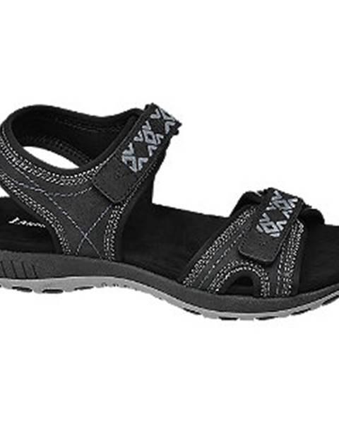 Čierne sandále Landrover