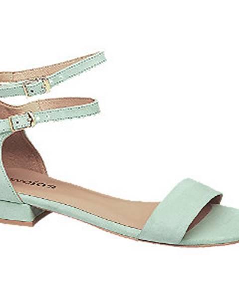 Mentolové sandále Wojas